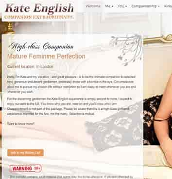 kate English companio extraordinaire